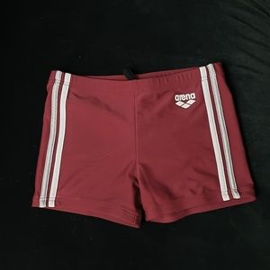Arena Beat F Swim Trunks Berry Red Size Medium NWT